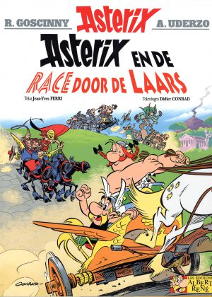 Asterix en race door de laars
