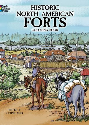 Historic North American Forts - Coloring book