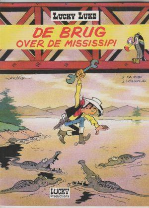 Lukcy Luke, de brug over de Mississipi
