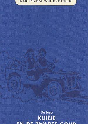 De Jeep, Kuifje en de Zwarte Goud - Atlas 1:43. Inclusief showcase, doos en certificaat.