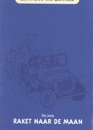 De Jeep, Kuifje naar de Maan - Atlas 1:43. Inclusief showcase, doos en certificaat.
