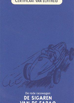 Rode Racewagen, De sigaren van de Farao - Atlas 1:43. Inclusief showcase, doos en certificaat.Wegens kleine beschadigingen afgeprijsd.