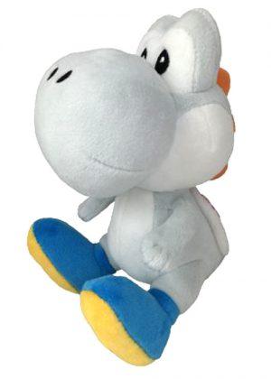 Super Mario Bros - White Yoshi knuffel 15 cm