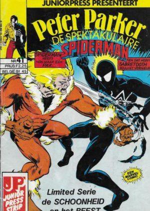 """Peter Parker de Spektakulaire Spiderman nr.41 - """"Een kat in het nauw"""""""