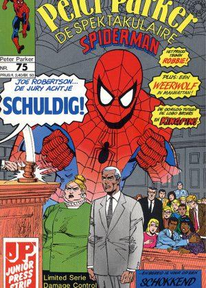 Peter Parker de Spektakulaire Spiderman nr.75 - Schuldig!
