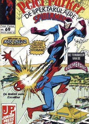 Peter Parker de Spektakulaire Spiderman nr.69 - Tegenwind