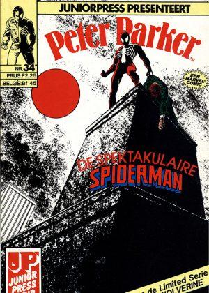 """Peter Parker de Spektakulaire Spiderman nr.34 - De dood van Jean Dewolff deel 3: """"Hij die zonder zonde is"""""""