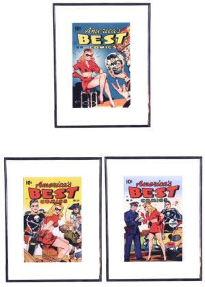 Superhero Girls (Vintageposters - 3 stuks)