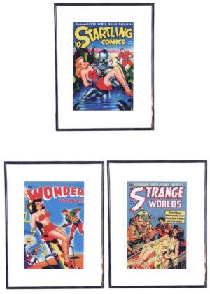 SCI FI Girls (Vintageposters - 3 stuks)