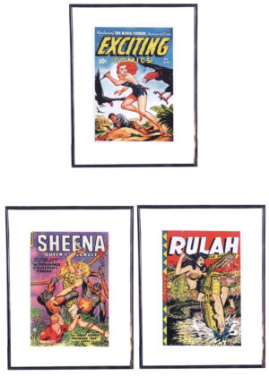 Jungle Girls (Vintageposters - 3 stuks)